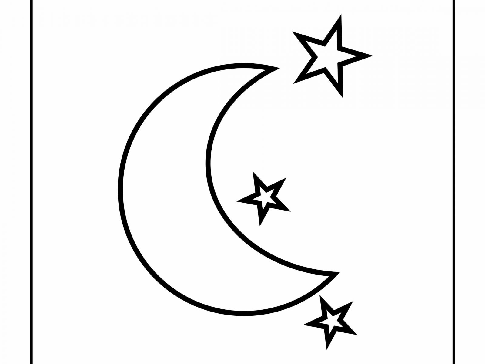 1600x1200 Stars Coloring Page Moon Vitlt Free And Pages Printable Kids Sun