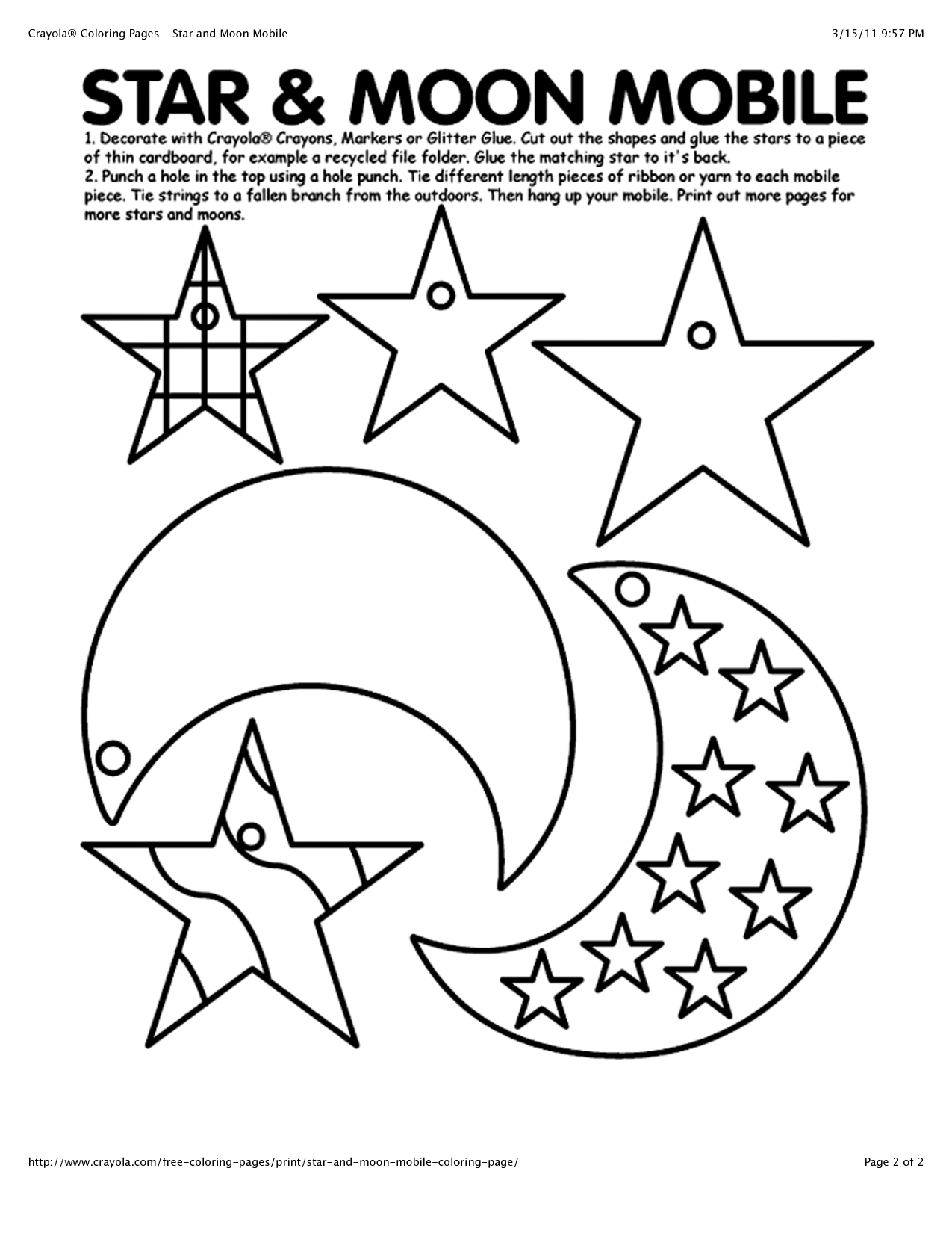 Moon And Stars Coloring Pages at GetDrawings | Free download