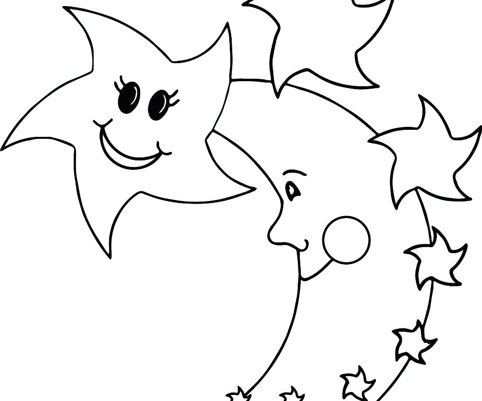 963x800 Child Moon And Stars Coloring Pages Printable Nappy Time Child