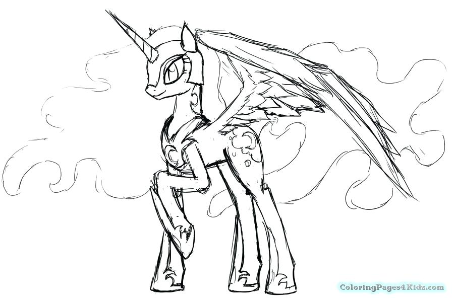 900x600 Coloring Pages Of The Moon My Little Pony Nightmare Moon Coloring