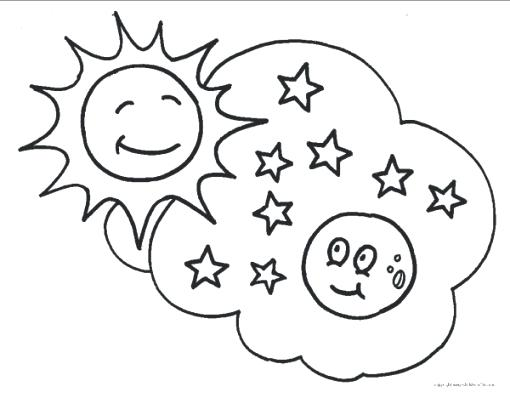 510x398 Free Printable Moon And Stars Coloring Pages Elegant Or Sun