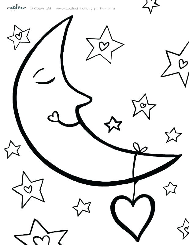 618x800 Free Printable Moon And Stars Coloring Pages Moon And Stars