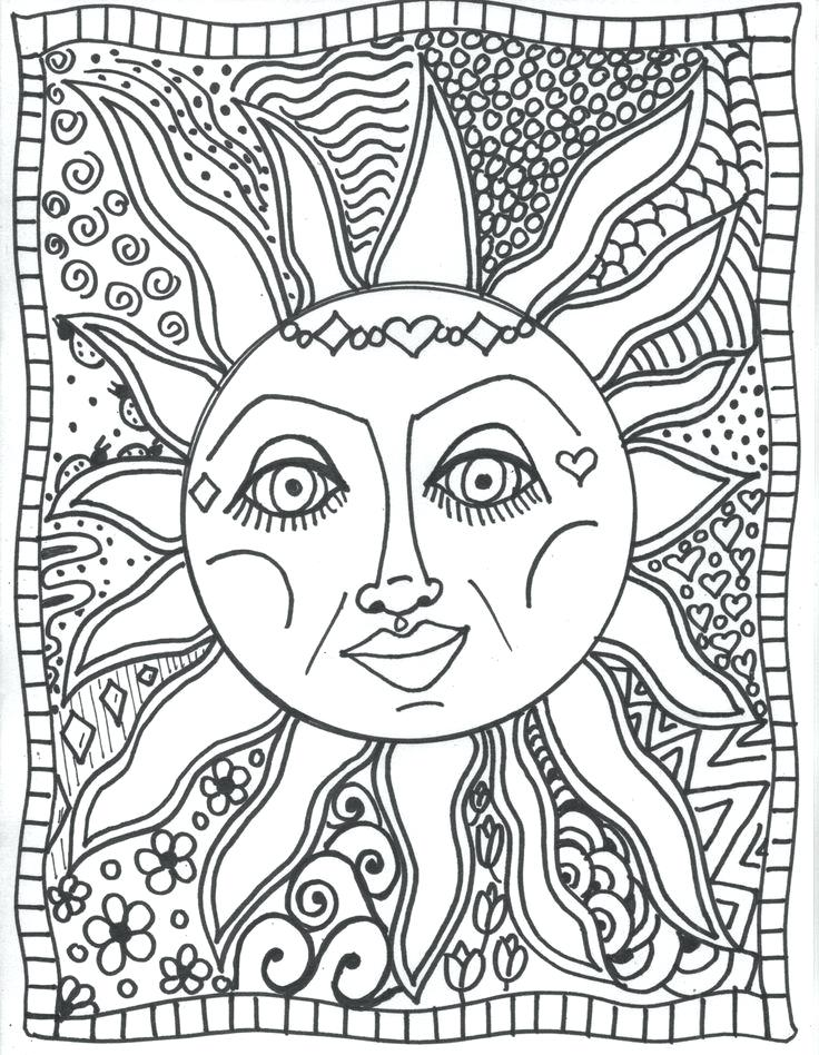 736x948 Moon And Stars Coloring Pages Printable Moon Coloring Pictures