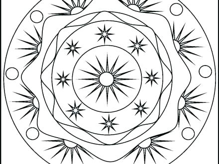 440x330 New Moon And Stars Coloring Pages For Sun And Moon Coloring Pages