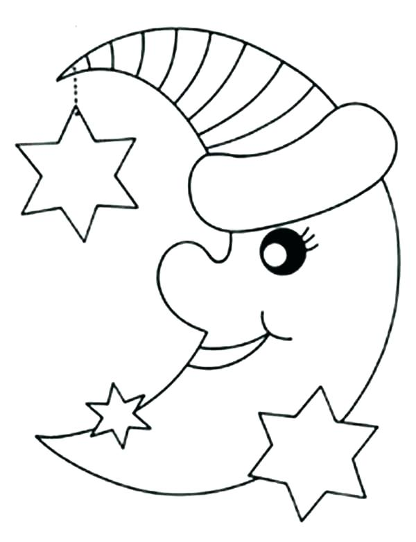 600x782 Stars Coloring Pages Moon Stars Coloring Pages Printable Sheets