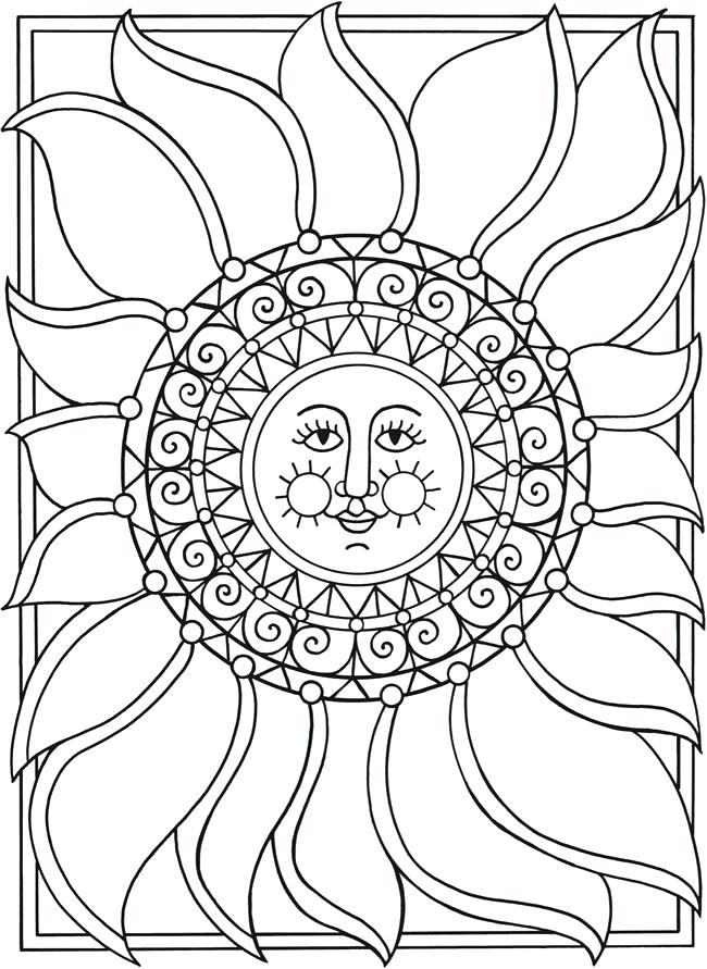 650x891 Sun And Moon Coloring Pages Spark Sun Moon Stars Coloring Page All