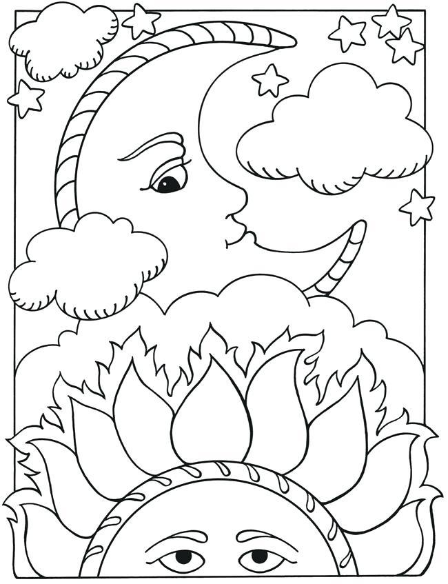 650x847 Sun And Moon Coloring Pages Sun Moon Dragon Yin Yang Coloring Sun