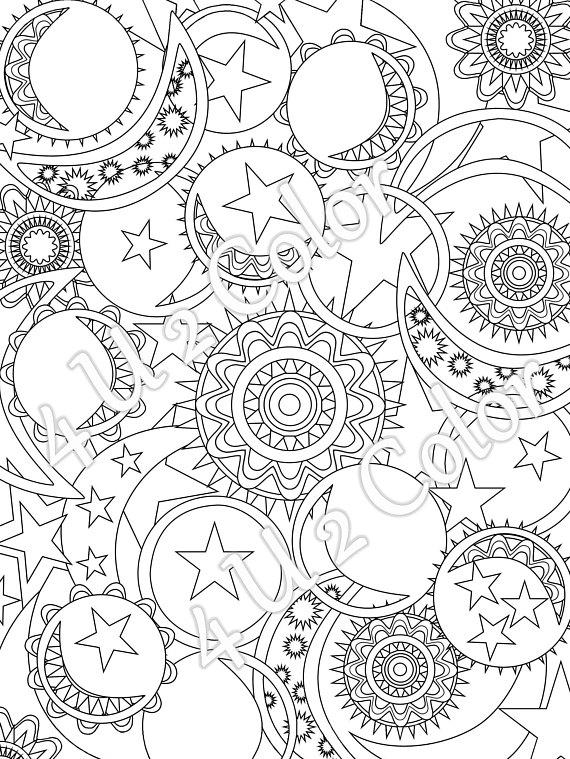 570x759 Sun Moon Stars Coloring Page Sun Moon Stars