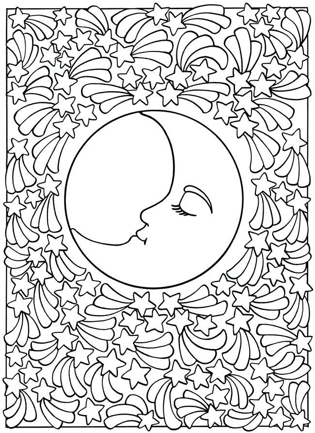 650x892 Moon Mandala Coloring Pages