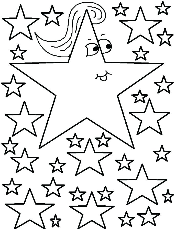 688x891 Coloring Pages Of A Star Moon And Stars Coloring Pages Printable