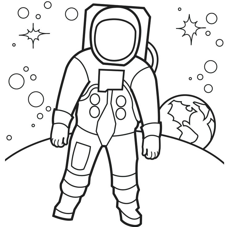 736x736 Space Coloring Pages Space Coloring Pagesstronaut On The Moon