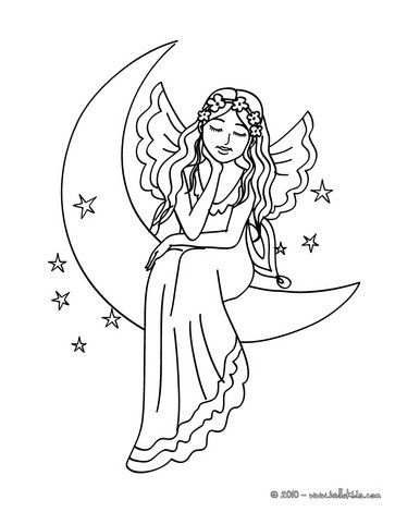 363x470 Fairy The Moon Coloring Page Coloring Pages