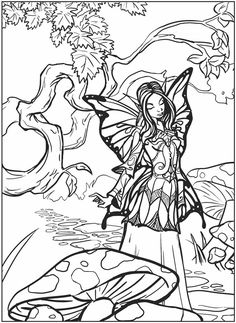 236x323 Moon Fairy Coloring Pages