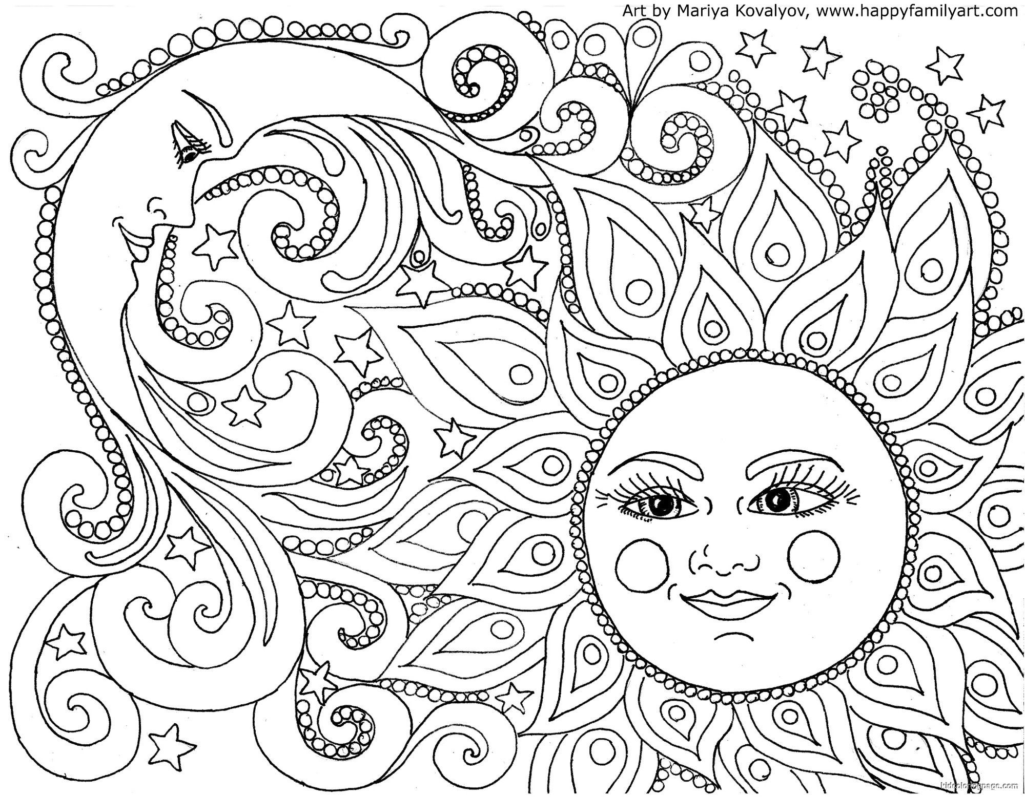 2000x1556 Coloring Pages Sun And Moon Coloring Pages Moon