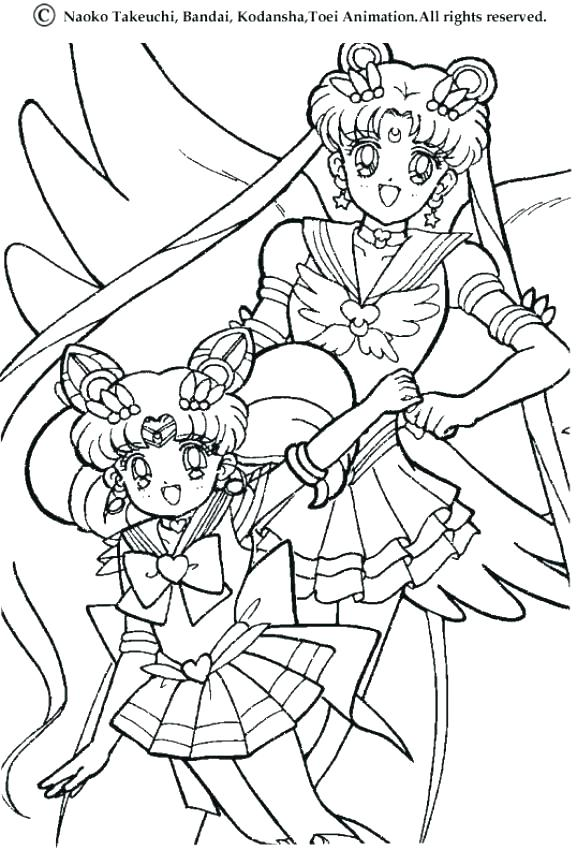 577x850 Moon Coloring Pages Sailor Moon Coloring Page Bunny With Flowers