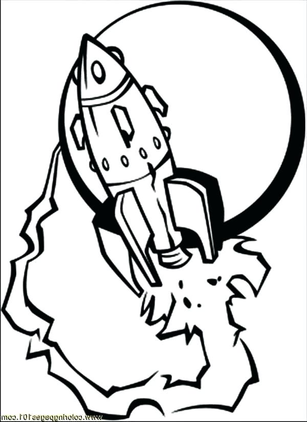 600x823 Spaceship And The Moon Coloring Page Download Print Online Free