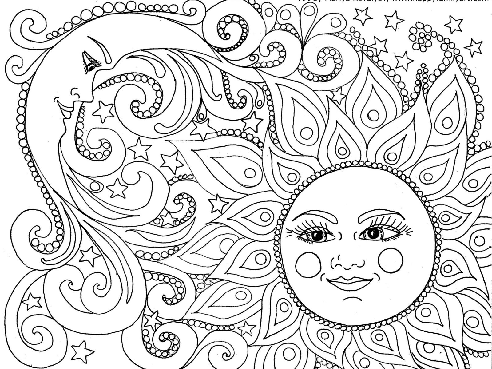 1600x1200 Clever Moon Coloring Pages And Stars Forlts Festival