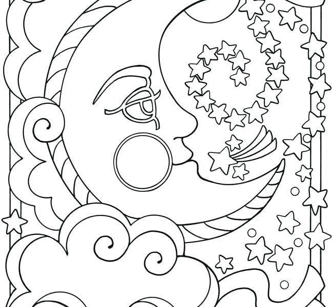 650x600 Moon Coloring Pages Sun And Moon Coloring Pages Full Moon