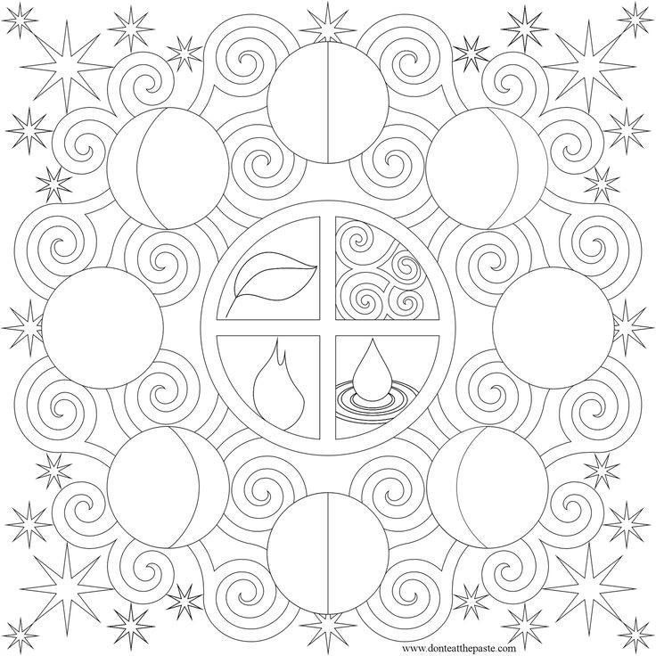 736x736 Moon Phases Coloring Page Moon Colouring Moon
