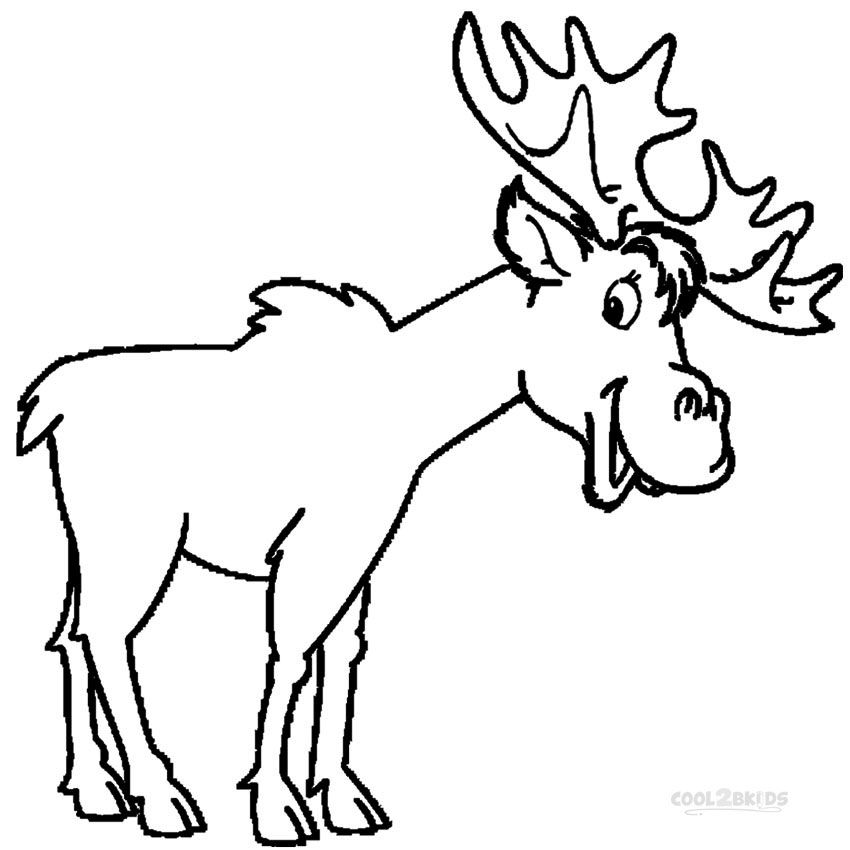 850x850 Moose Coloring Page Fancy Moose Coloring Pages In Picture