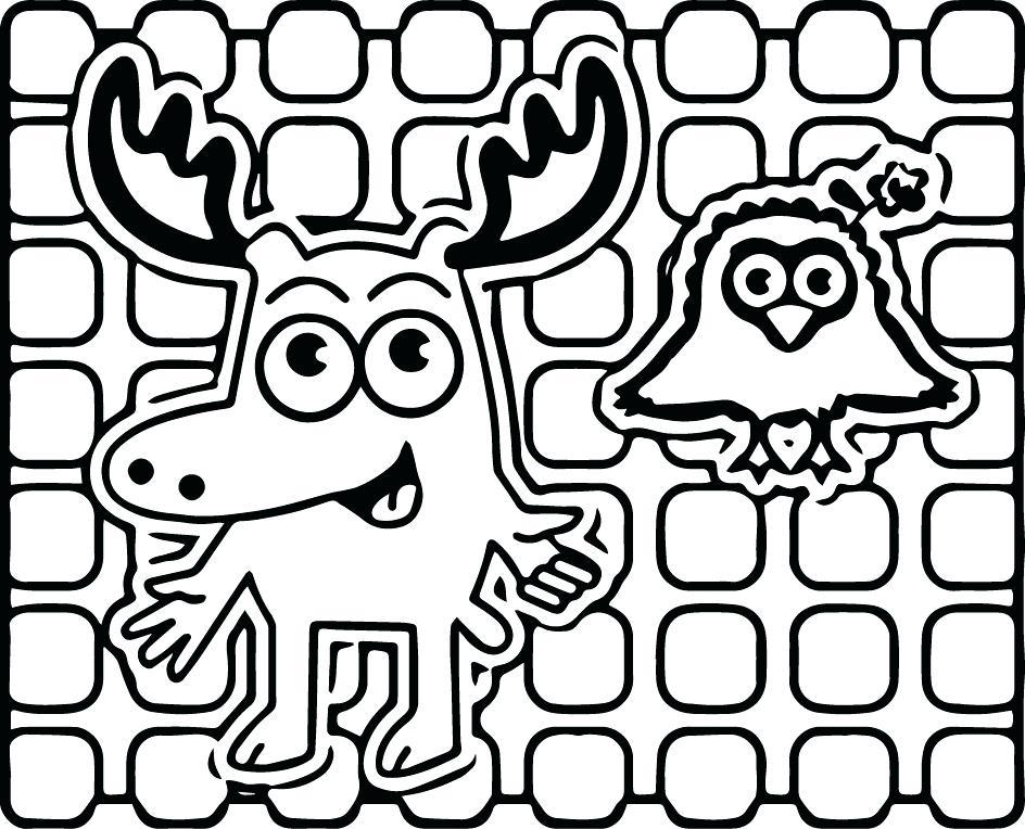 944x764 Moose Coloring Pages Moose A Moose Noggin Coloring Pages Baby