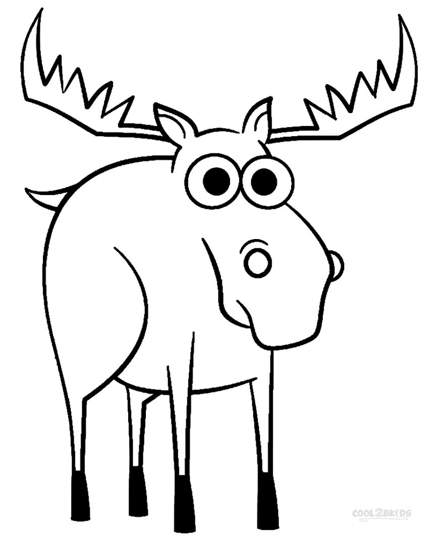 850x1063 Printable Moose Coloring Pages For Kids