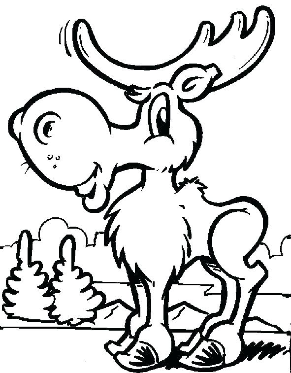 591x757 Moose Coloring Pages Printable Professional