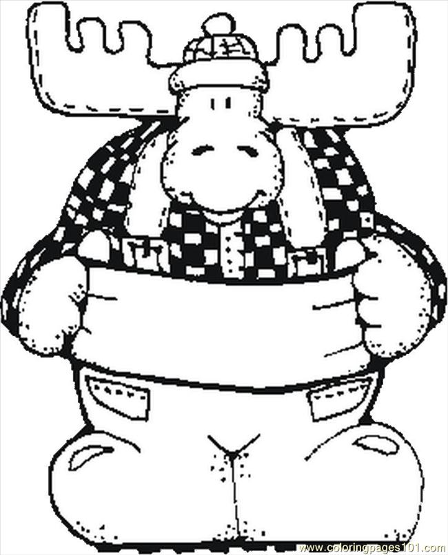 650x806 Christmas Moose Coloring Pages