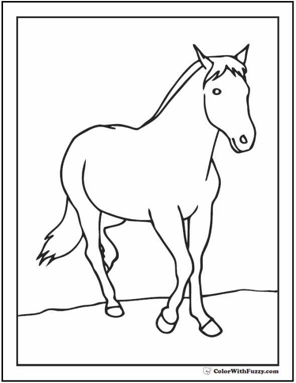 590x762 Horse Coloring Page Riding, Showing, Galloping