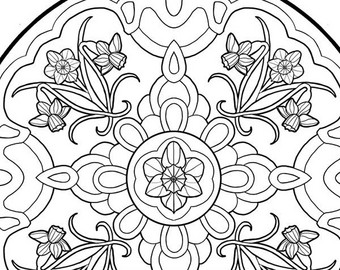 340x270 Printable Coloring Book Page For Adults September Birth