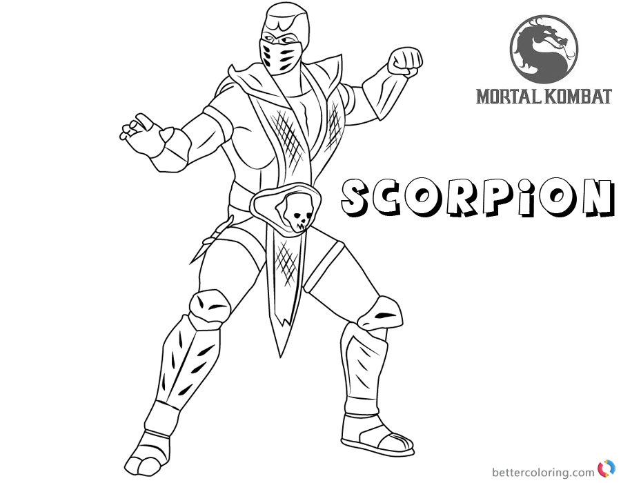 Mortal Kombat Coloring Pages At Getdrawings Free Download