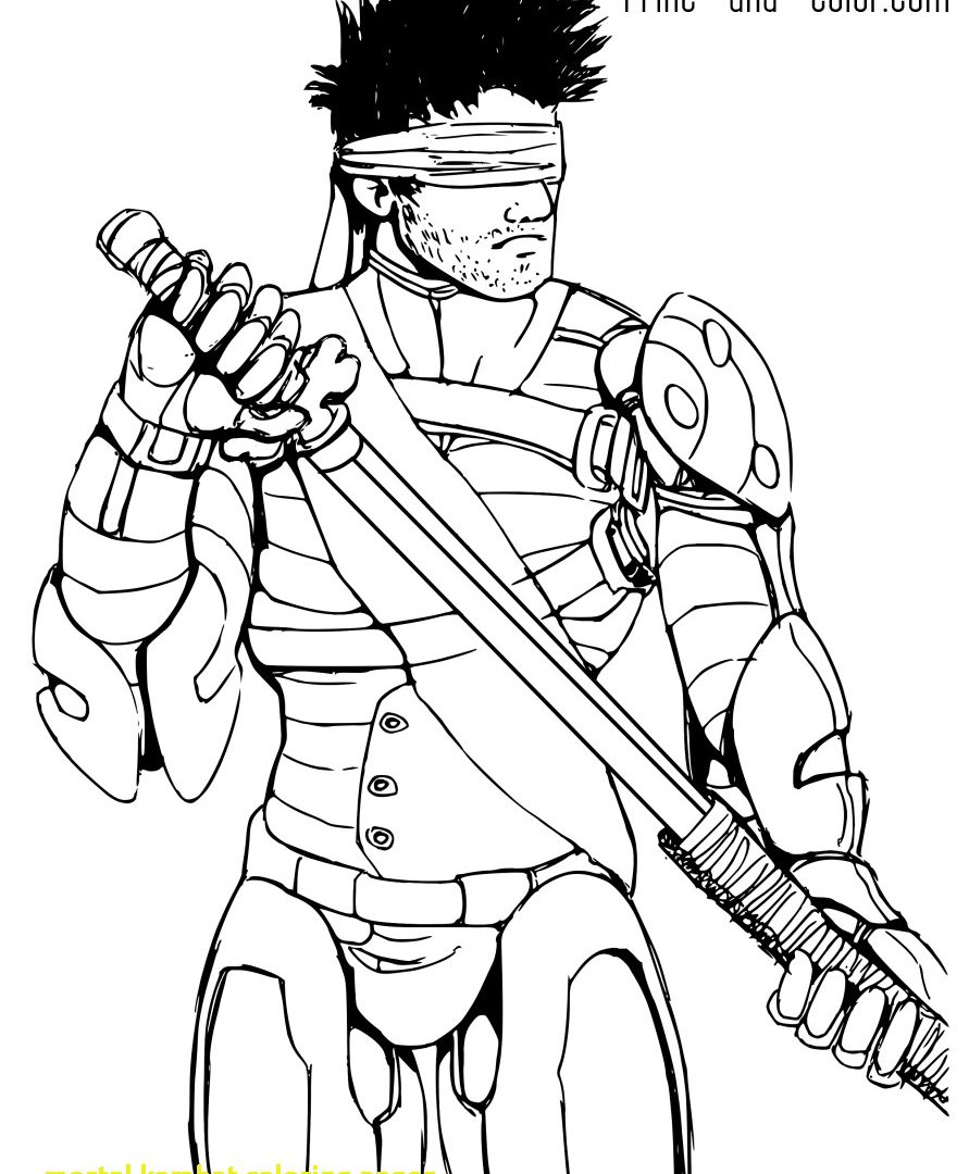 891x1080 Mortal Kombat Coloring Pages Reptile Scorpion Colouring Printable