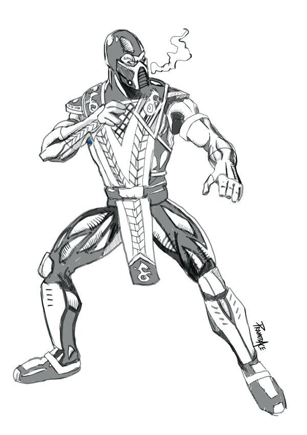 600x849 Mortal Kombat Coloring Pages Sub Zero Mortal X Coloring Pages
