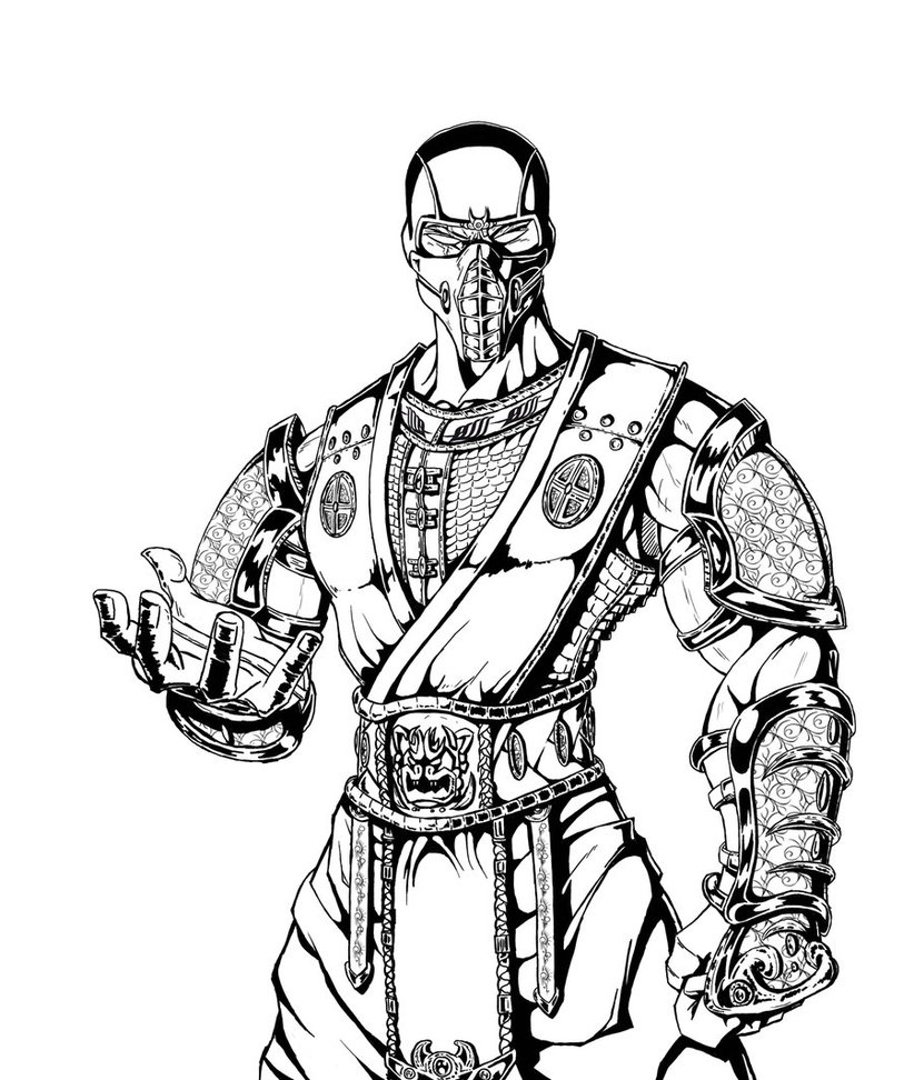 822x972 Sub Zero Coloring Pages