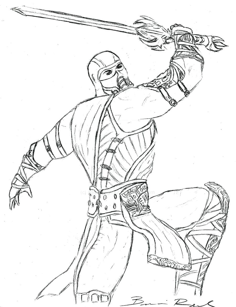 900x1169 Coloring Pages Mortal Kombat Coloring Pages Sub Zero X Mortal