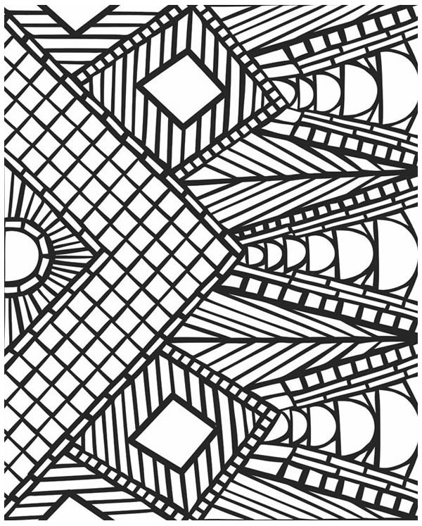 600x747 Crafty Inspiration Mosaic Coloring Pages For Adults
