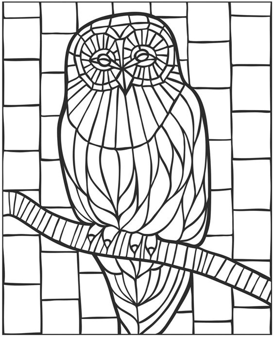 Mosaic Animal Coloring Pages at GetDrawings.com | Free for personal ...