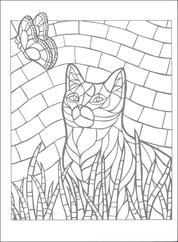 The best free Mosaic coloring page images. Download from ...