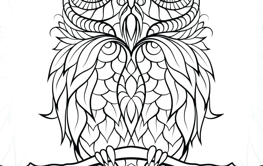 863x544 Free Art Coloring Connect The Dots Artistic And Pages Adult Owl