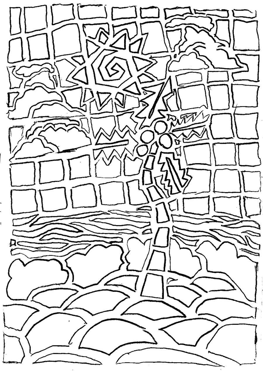 900x1269 Appealing Mosaic Coloring Pages Picture For To Print Ideas