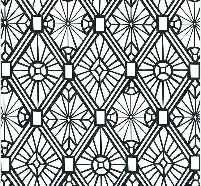 650x600 Free Printable Mosaic Coloring Pages For Adults Arts Culture
