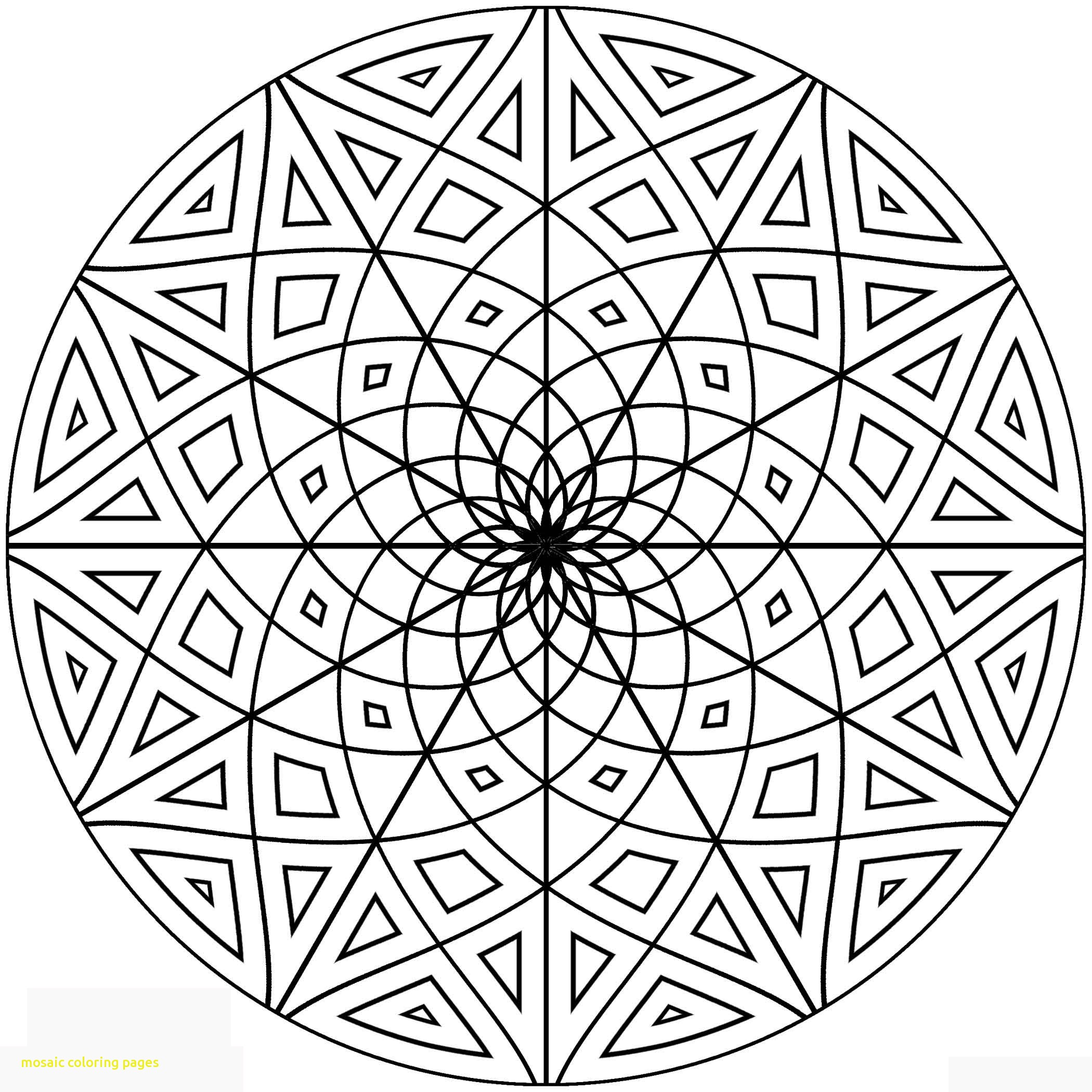 2100x2100 Islamic Ornament Mosaic Coloring Page Free Printable Pages