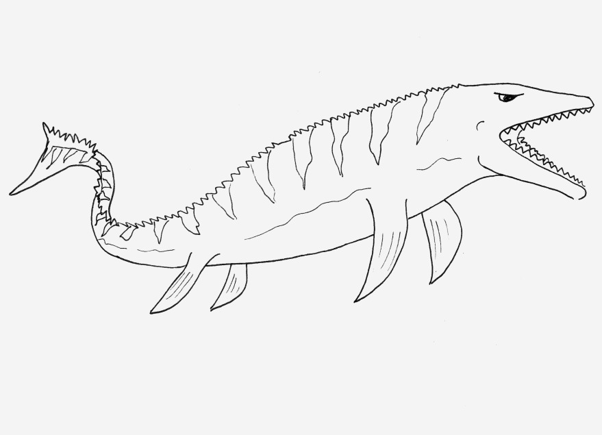 Mosasaurus Coloring Page