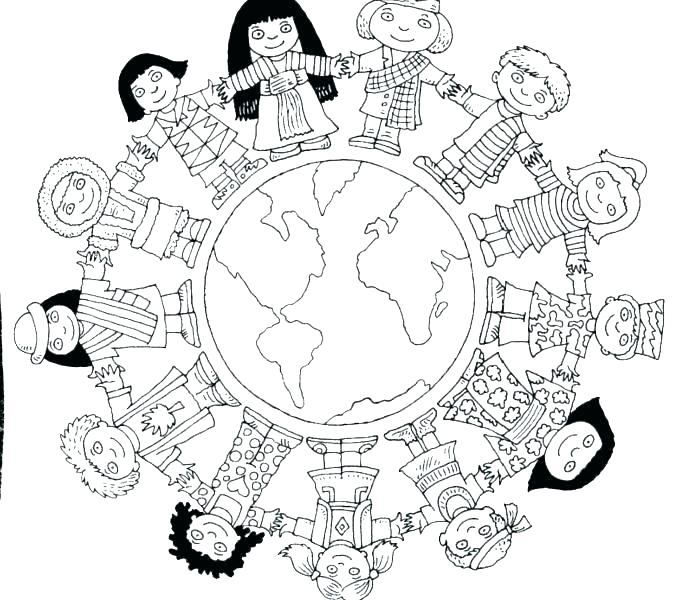 678x600 World Coloring Page World Coloring Page Children World Coloring
