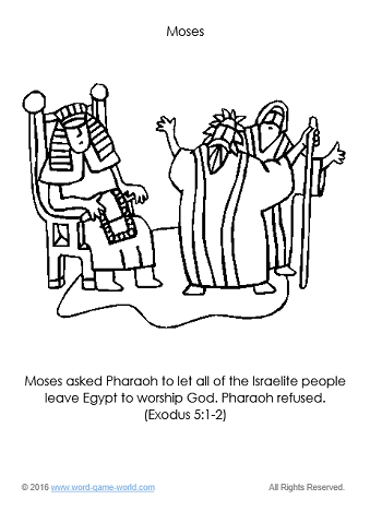 Moses And Pharaoh Coloring Pages At Getdrawings Com Free For