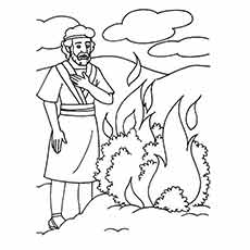 230x230 Moses Coloring Pages