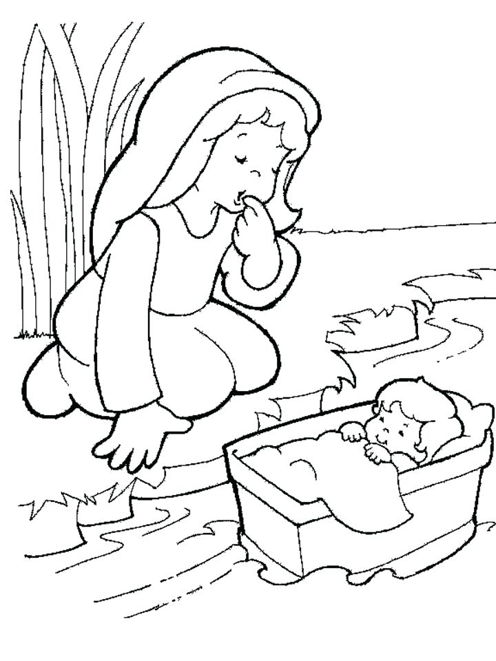 720x960 Baby Coloring Page Free Coloring Moses Pharaoh Coloring Pages