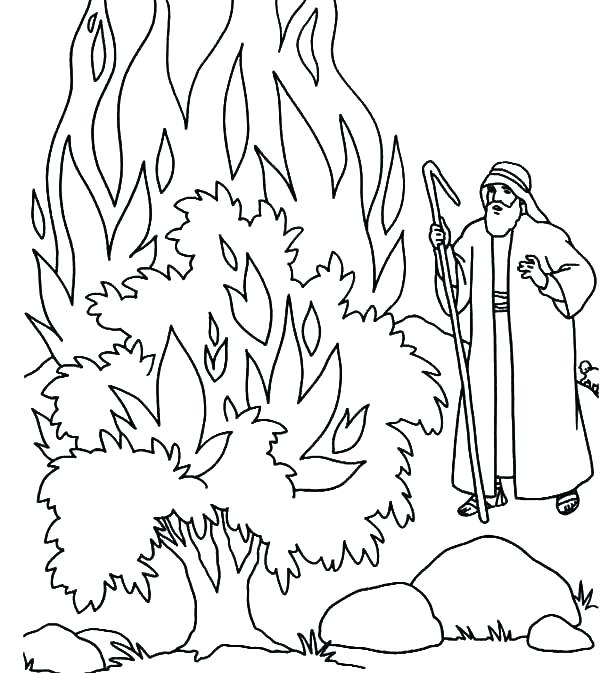 600x673 Moses Coloring Pages Walking Through Red Sea Coloring Page Moses