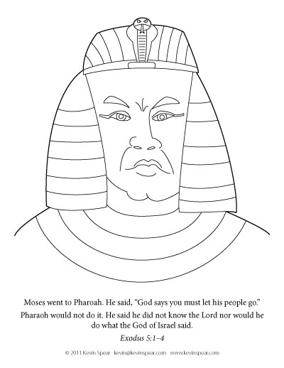 400x518 Moses Meanpharaoh Coloring Page Mean Pharaoh Children's Sunday
