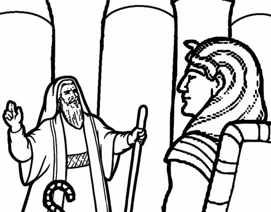 543x425 Pharaoh Coloring Pages Printable Moses Coloring Pages For Kids